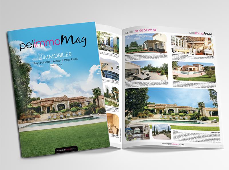 Conception et impression magazine agences immobilières Pelimmo