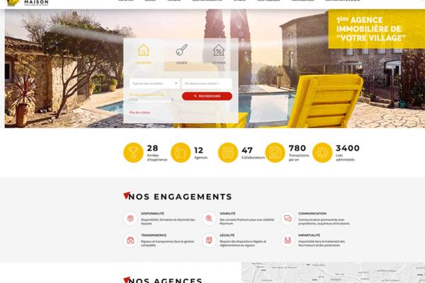 Réseau d'agences Votre Maison immobilier partenaire de Imprimerie du Net