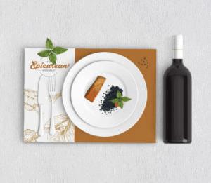 Impression sur papier indéchirable set de table